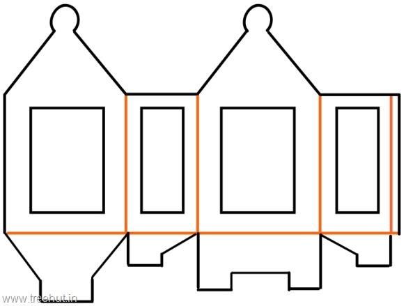 diwali paper lantern template