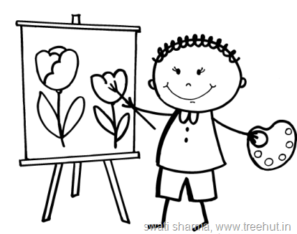 Stick Figures Coloring pages-6 - TreeHut.in