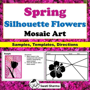 Spring Silhouette Flowers, Mosaic Art Project
