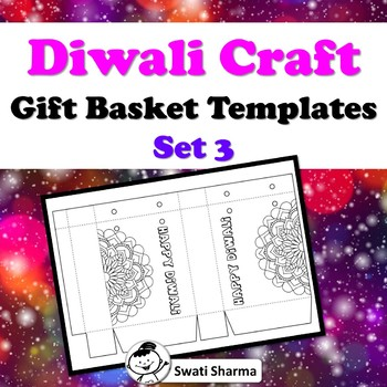 Diwali Craft, Gift Basket Templates, Set 3