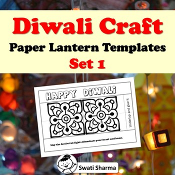 Diwali Craft, Paper Lantern Templates, Set 1