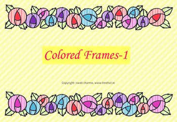 Colorful Frames and Borders for Scrapbook Paper