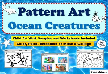 Ocean Animals Art Project, Pattern Art/Pop Art