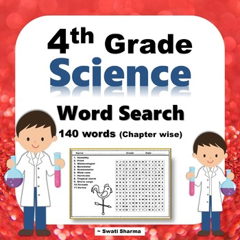 4th Grade Science, Word Search Worksheets