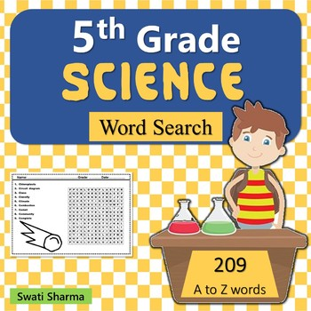 5th Grade Science, Word Search Worksheets