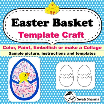 Easter Chick Basket Template Craft