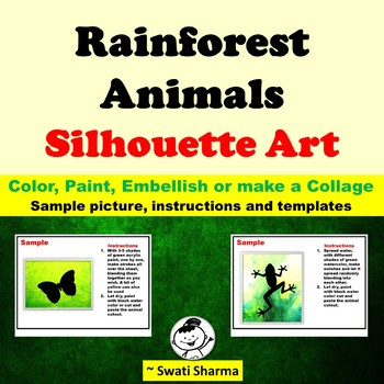 Rainforest Animals Silhouette Art Project