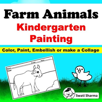 Farm Animals Kindergarten Painting Art Project