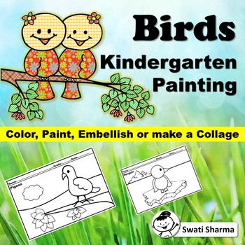 Spring, Birds Kindergarten Painting Art Project