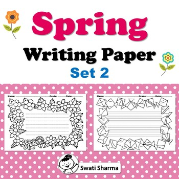 Spring, Writing Paper, Set 2