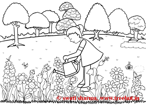 Colouring In Sheets Garden : Garden colouring pages