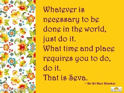 quote on seva by-sri-sri-ravi-shankar