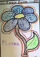 dot-art-flower by riddhi rohtagi lmgc lucknow