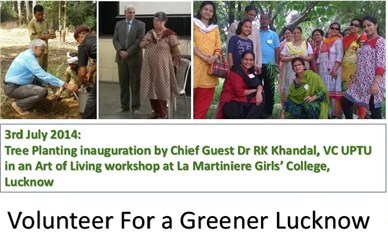tree-planting at La Martiniere Girls College Lucknow by Art of Living