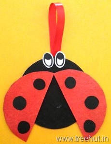 cd craft idea ladybug