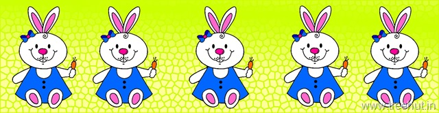 Easter bunny clipart illustration