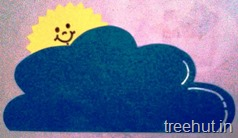 sun and cloud personalised nametags for school kids