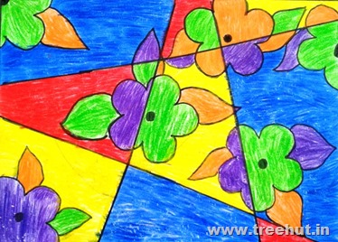 Abstract Child art by Ritwika Sinha Study Hall Lucknow India