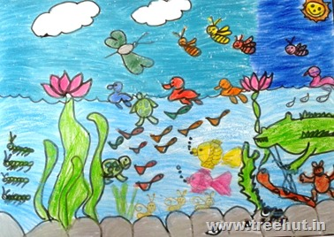 Child art by Manasi Study Hall Lucknow India