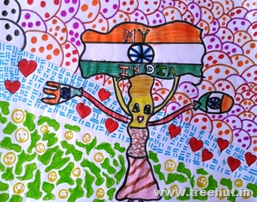 Independence Day art by Shambhavi Dikshit Lucknow India