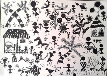 Warli art by Saad Hasan Lucknow India