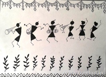 Warli art by Vandita Singh Lucknow India