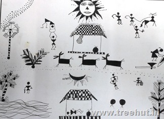 Warli art by Poojit Lucknow India