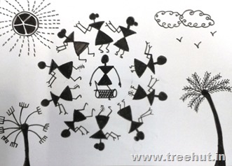 Warli art by child Khushi Singh Lucknow India