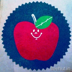 apple fruit name tag for school children