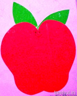 apple fruit name tag stencil for school children 16