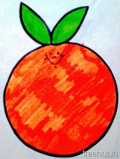 ornage fruit name tag for school children 6