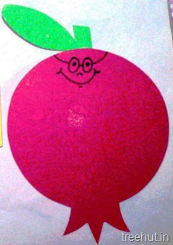 pomegranate fruit name tag for school children 2