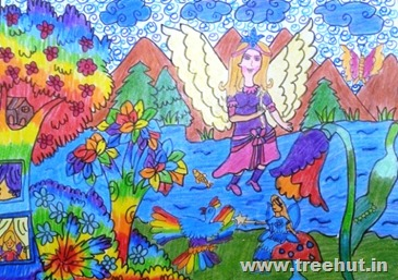 Fairy child art by Surbhi Verma Lucknow India