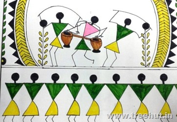 Warli art by child Mariyam Fatima Lucknow India