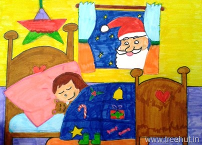 Santa visits in art by Fariha Rahman