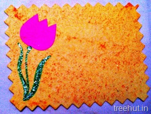 flower nametag easter craft idea