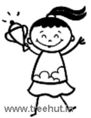 Girl winning trophy coloring page