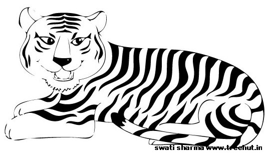 Free Printable Tiger Coloring Page on animal mosaic patterns