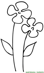 Flower coloring page for school kids
