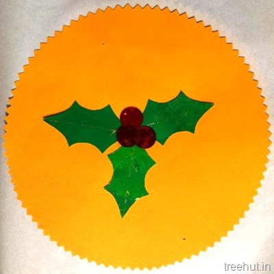 christmas holly leaves decoration crafts