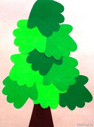 diy easy christmas tree paper crafts decoration for kids