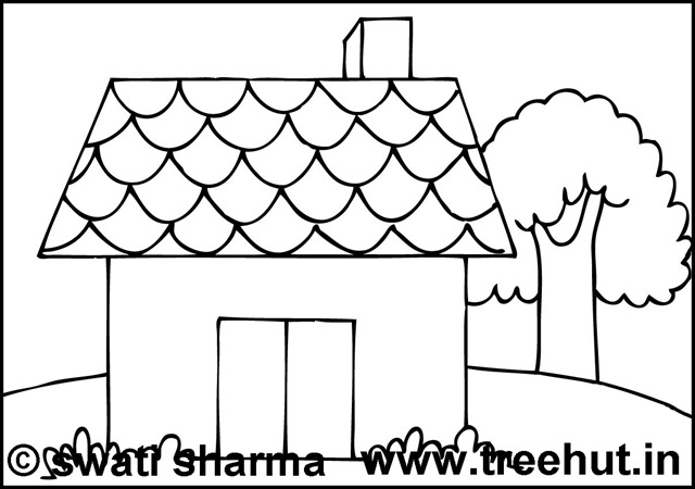 Hut Free Coloring Pages