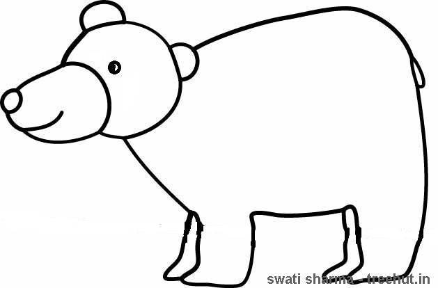 Indian bear coloring pages