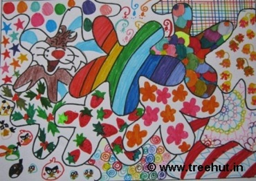 Pattern art by child artist Ananya Singh India
