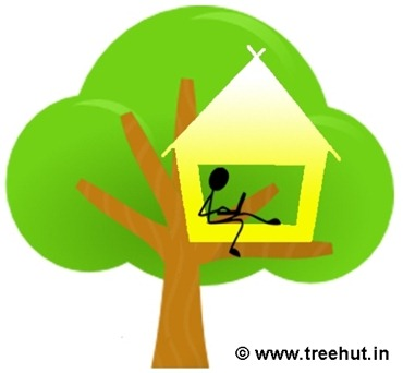 treehut logo design art by Anisha and Swati Sharma