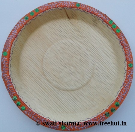 DIY Indian decorative eco friendly hand painted plates