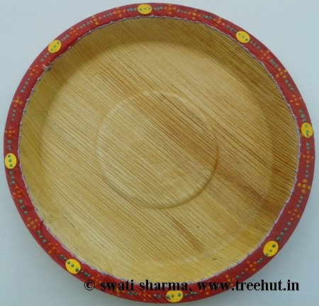 Indian decorative eco friendly hand painted plates