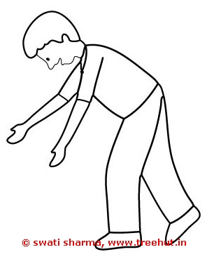 boy falling coloring page