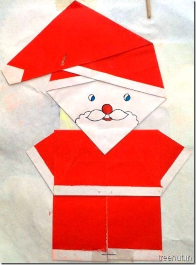 paper folding santa claus paper craft decoration