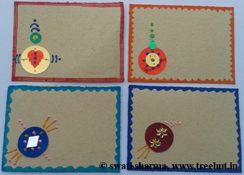 Craft idea Indian art on gift tags
